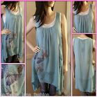 *Caroline Morgan* Butterfly bling dress/top in grey/blue size 8,10,12 and 14