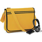Bagbase Bags- Unisex Retro Messenger Bag-One Size-6 Colours--