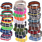 Mens Womens Nylon Military Army Watches NATO Straps Wristwatch Band Buckle 20mm