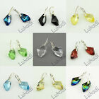 SILVER 925 EARRINGS BEAUTIFUL FASHION SWAROVSKI GALACTIC CRYSTAL NEW 11 COLORS