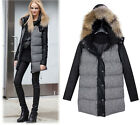 new arrival womens coats fur collar duck down warm jacket slim zipper button