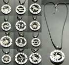 TF853A - 2 PCS of 12 Signs of Zodiac Pendant Necklace Couple Lover - U Select