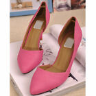 US5-8 Candy Color Pointy Toe Shoes fashion slip on ladiess shoes  [JG]
