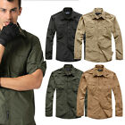 Men' Casual Military Outdoor Tactical Sports Short Long Sleeves Fast Dry Shirts