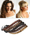New Fashion Women Girl Synthetic Hair Plaited Headband Bohemian Style Hair Band