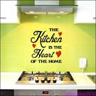 The Kitchen is the Heart of the Home wall sticker kitchen design