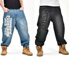 #131 Men Brand new Hip Hop Needlework Logo Printing Pants Trousers Casual Jeans