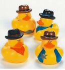 Set of 4 Cowboy Western Rodeo Rubber Ducks DUCKYS Duckies or Sticker #16826