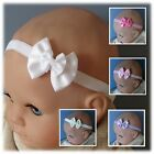 Double Satin Bow Baby Headband- 10 colours to choose from! (40mm bow)