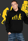 Felpa cappuccio Evolution robot Sheldon Big Bang Theory hooded Uomo donna Unisex