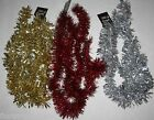 2m Christmas Tinsel Colour in Silver Gold Red xmas decoration wall door hanging