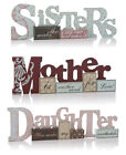 Shabby Chic Mum Daughter Sister Wooden Mothers Day Family Gift Home Decor Signs