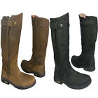 LADIES KANYON HORSE RIDING WATERROOF YARD COUNTRY LONG LEATHER BOOTS SIZE UK 3-8