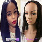 """16""""-24"""" 160g-240g indian remy human hair half 3/4 glueless wig weft cap clip-on"""