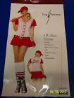 6 pc. Player Red Baseball Sports Fancy Dress Up Halloween Sexy Adult Costume