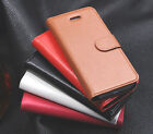 New Genuine Real Leather Wallet Flip Phone Case Cover For Apple iPhone 5 5S