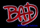 "Michael Jackson ""BAD"" patch, embroidery"