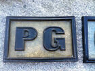 "Vintage ""PG"" Snap Lok Movie Rating Sign ~ 17.5 X 11 X 1.25"""