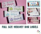 20 HERSHEY CANDY BAR Wrapper Label Birthday Party Favor Decoration PERSONALIZED