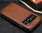 Genuine Real Cow Leather Flip Phone Case Cover for Samsung Galaxy S4 S 4 IV
