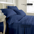 800-1000-1200TC Brand New Luxury Blue Solid Sheet & Cover 100% Egyptian Cotton