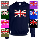 British Flag United Kingdom UNION JACK UK ENGLAND SWEATSHIRT