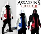 New ASSASSINS CREED 3 Conner Kenway Game Leather COAT HOODIE Costume Jacket BNWT