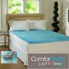 "NEW! COOL 3"" TEXTURED ULTIMATE COMFORT MEMORY FOAM GEL BED MATTRESS PAD TOPPER"