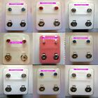 STERILE Earrings Surgical Steel STUD Earrings in Assorted Colours Sold in Pairs