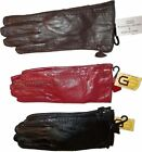 New Women's Leather Dress Gloves, Warm Winter Gloves Black Brown Leather Gloves