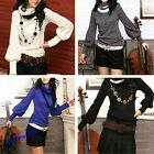 Hot Sale Women's Bottoming Shirt Turtle Neck Long Sleeve Knitting Sweaters