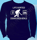 Crown Green Bowling T-Shirt Great Gift Idea Sorted Bowls Xmas Long Sleeve Shirt