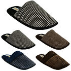 NEW MENS COOLERS COMFORT SLIP ON FLAT WARM WINTER CASUAL SLIPPERS SHOES MULES