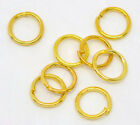 Wholesale Lots Gold Plated Open Jump Rings Findings 6x0.7mm