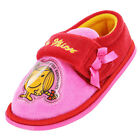 Infants Girls Size 4 - 10 LITTLE MISS SUNSHINE Pink Velcro Slippers NEW