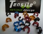 Tensile Alloy Hydraulic Hose clips,Colours Red,Blue,Black,Red. NEW.Neat & Cool