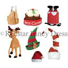 CHRISTMAS XMAS FANCY DRESS NOVELTY SANTA HAT ELF PIXIE TURKEY STOCKING FILLER