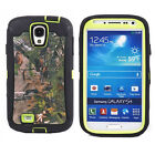For Samsung Galaxy S4 i9500 Shockproof Dirtproof Camo Case Cover Green Tree