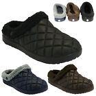 MENS COMFORT FUR WARM SNUGG WINTER NURSE HOSPITAL CLOGS SLIPPERS SHOES MULES