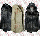 NEW VINTAGE RETRO STYLE FAUX FUR HOODED MINK WINTER THICK PARKA COAT JACKET 8-16