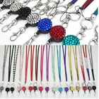 NECK RHINESTONE CRYSTAL LANYARD& RETRACTABLE ID NAME BADGE REEL PHONE KEY HOLDER