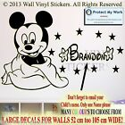 Baby Mickey Mouse Personalised Kids Children Name Vinyl Wall Sticker Decal 1