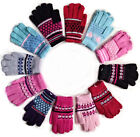 BLACK PINK GREY AQUA WOMENS GIRLS  WINTER WARM THERMAL KNITTED MAGIC GLOVES