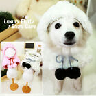 Luxury Pet Apparel- Fluffy Cape Winter Clothes Pink&Snow White Small-XLarge Dog