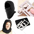 Sports Outdoor Camping Hiking Hat Survival Kit Knife Card Winter Ski Mask Beanie