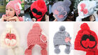 Women Warm Winter Beret Braided Baggy Beanie Knitted Crochet Hat SKI Cap 6 Color
