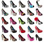 FDW Womens New Abbey Dawn Iron Fist Studs Zombie Pumps Platform High Heels Shoes