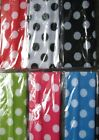 """6 Large Polka Dot Designed Headbands 2"""" wide ontinuous stretch LOT Nylon colors"""