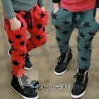 Autumn Boys Baby Child kids Star Print Design Harem Sports Pants Trousers 3-7Y