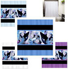 Cat Lovers Fabric Polyester Shower Curtain -  Decorative Cats Flowers Elegant